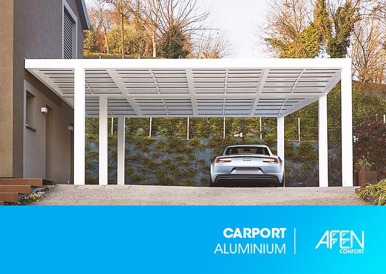 Carport aluminium et polycarbonate